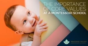 THE IMPORTANCE OF CORE VALUES AT A MONTESSORI SCHOOL
