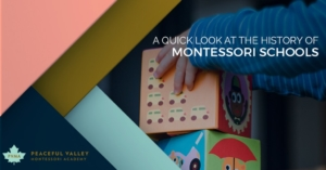 A QUICK LOOK AT THE HISTORY OF MONTESSORI SCHOOLS