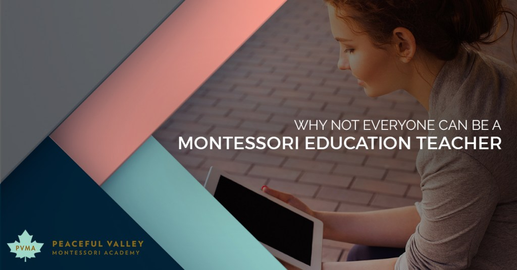 WHY NOT EVERYONE CAN BE A MONTESSORI EDUCATION TEACHER